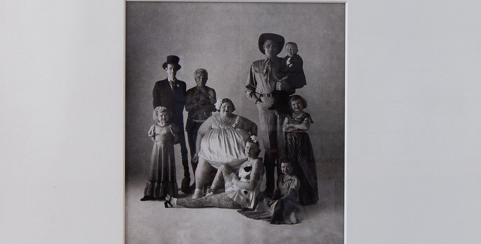 A Gelatin Silver Photograph titled 'Circus People' by Irving Penn, 1947