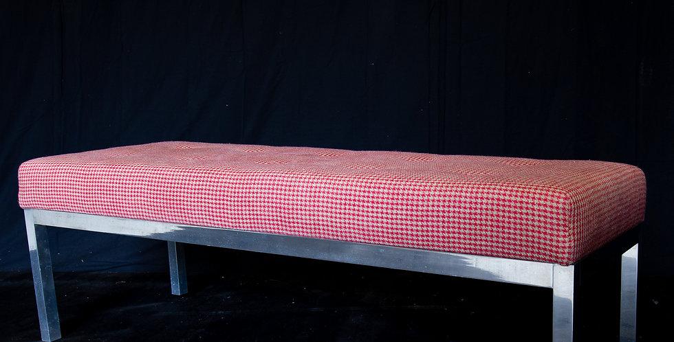 An Aluminium Framed Upholstered Stool, 1969