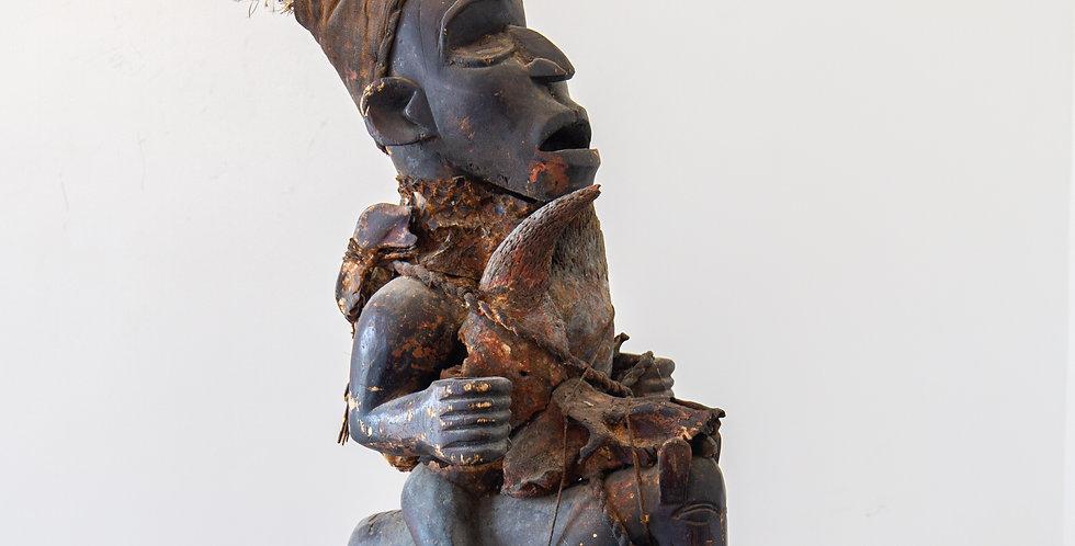 A Bakongo Fetish Figure from the Belgian Congo