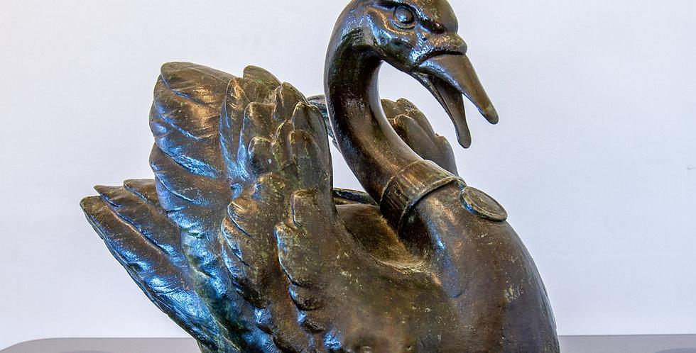 An English Bronze Fountain of a Swan