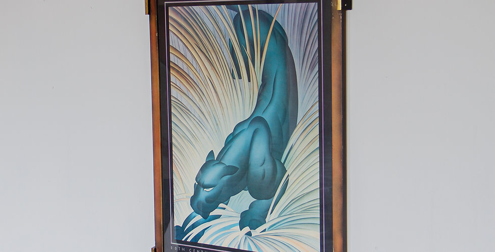A Framed Panther Poster by Major Felten, mid 1970s