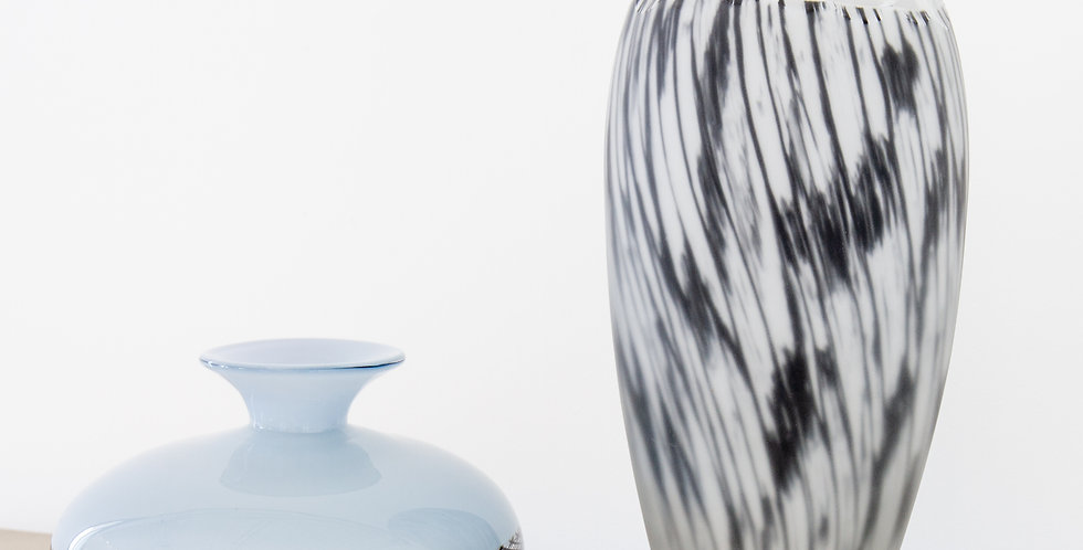 Two Editioned Italian Glass Vases