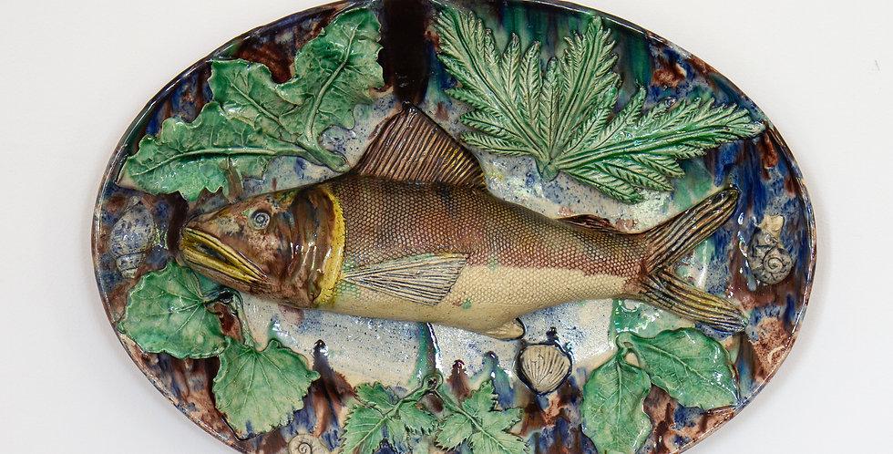 A 19th Century Palissy Ware Fish Plate. circa 1860