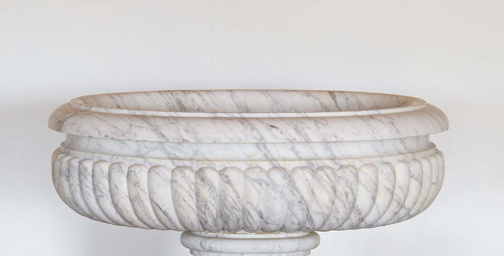 An Early 18th Century White Marble Wine Cooler of Grand Proportions