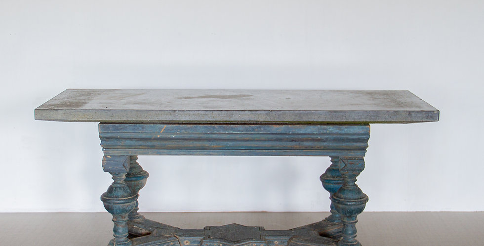 A Rare 18th Century Swedish Centre Table with an Öland Marble Top