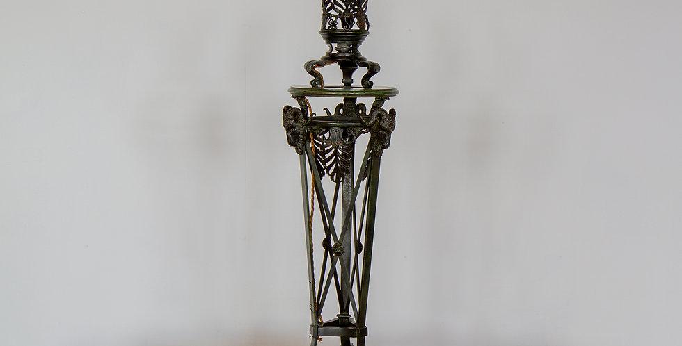 A 19th Century Italian Grand Tour Bronze Lamp
