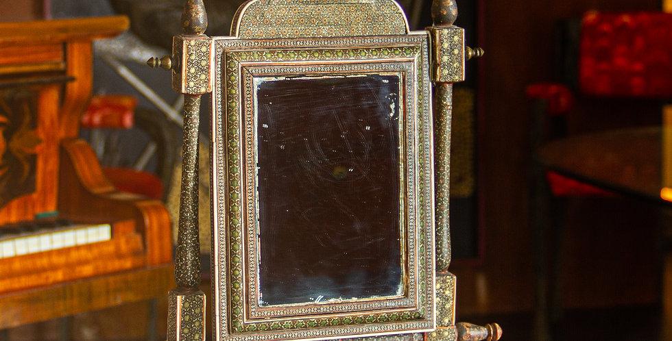 Mid 19th Century Indian Sadeli Table Mirror