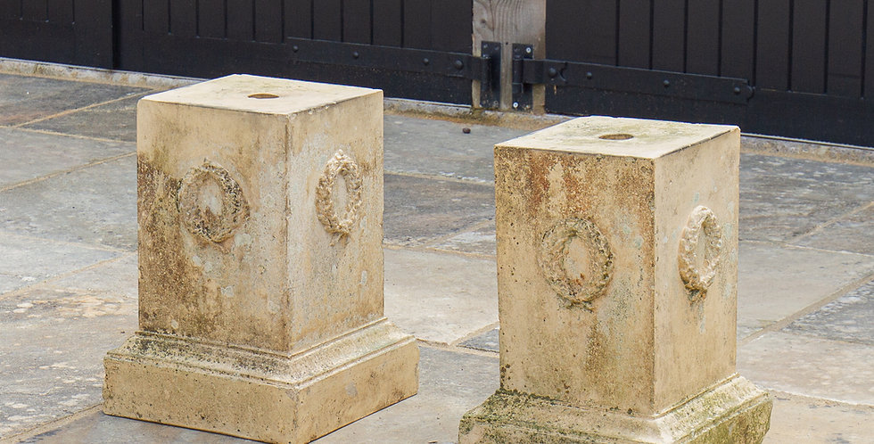 A Pair of 19th Century Terracotta Pedestals probably by Blashfield circa 1850