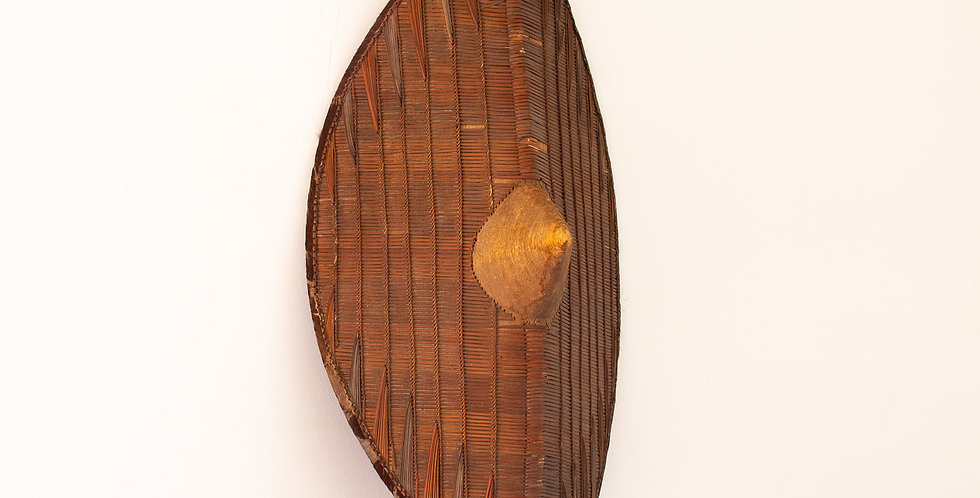 20th Century Rattan and Wicker African Shield