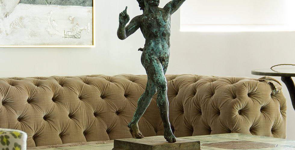 19th Century 'After the Antique' bronze Dancing Fawn