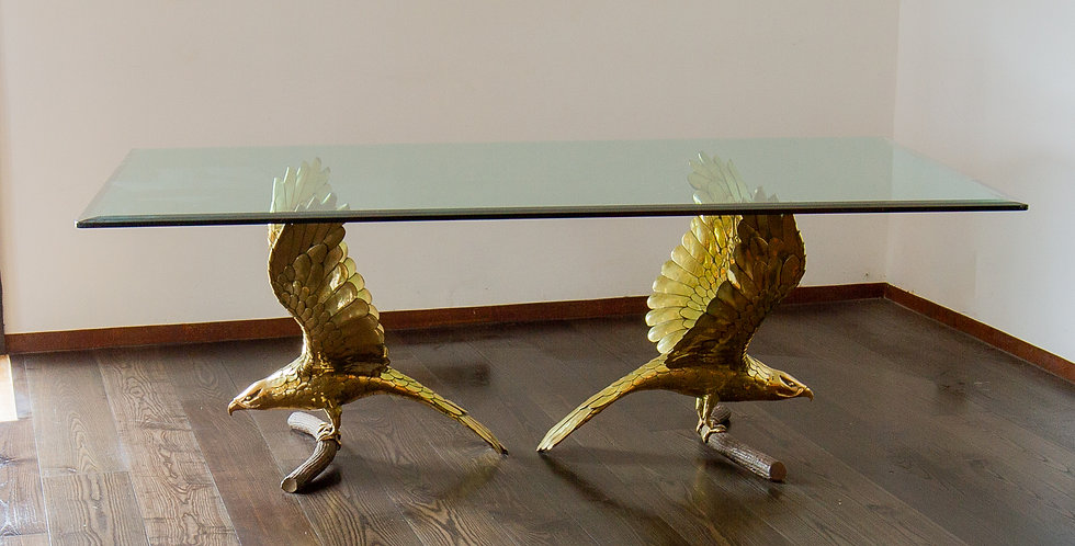 Stunning Eagle Based Dining Table by Alain Chervet signed 1970s