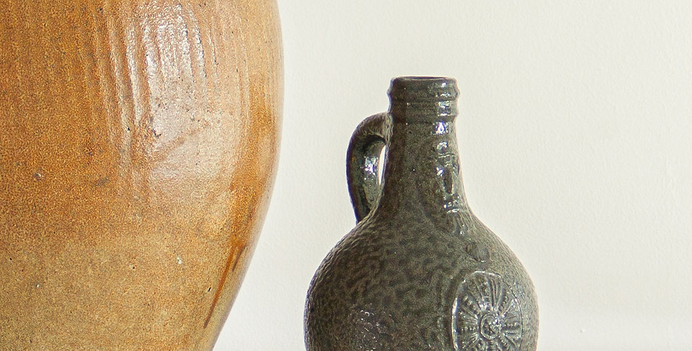 Small 18th Century Dark Stoneware Bellarmine Jug