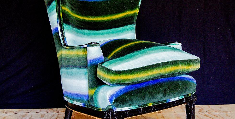 Regency Inspired Wingback Chair circa 1950s