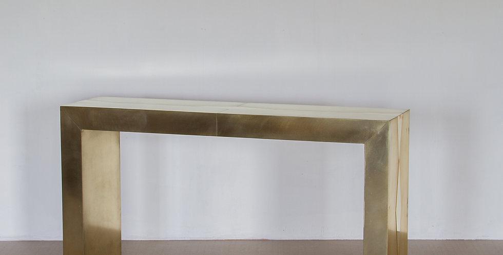 A Bespoke Brass Console by Ken Bolan Studio