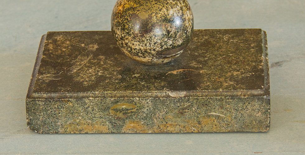 Swedish Paper Weight in Marble from the Island of Öland circa 1850