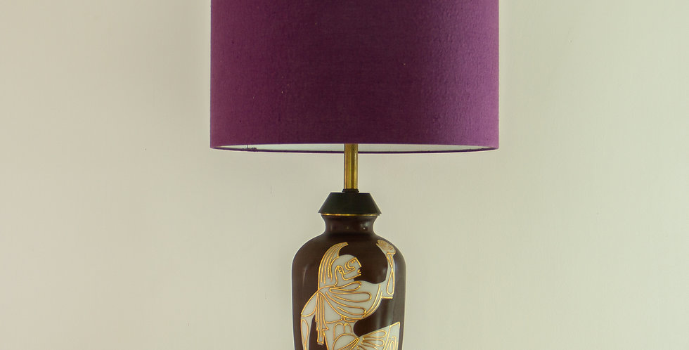 A Rare 1950's Ceramic Lamp in the Neoclassical Manner