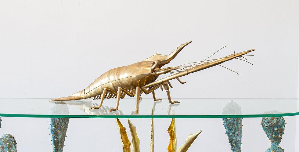 An Italian, 1960s Cast Bronze Model of a Lobster