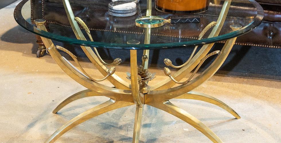 Italian Bronze Lotus Leaf Coffee Table 1950s