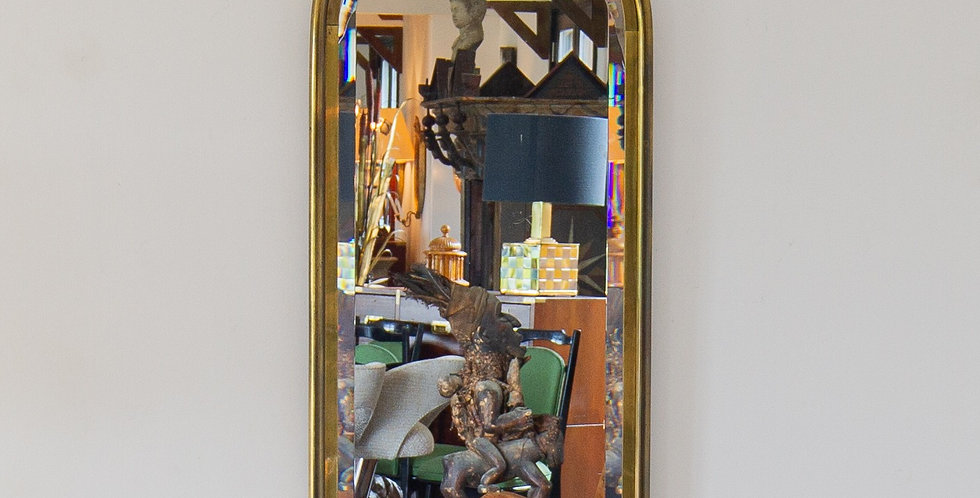 A Brass Framed Mastercraft designed Mirror 1970s