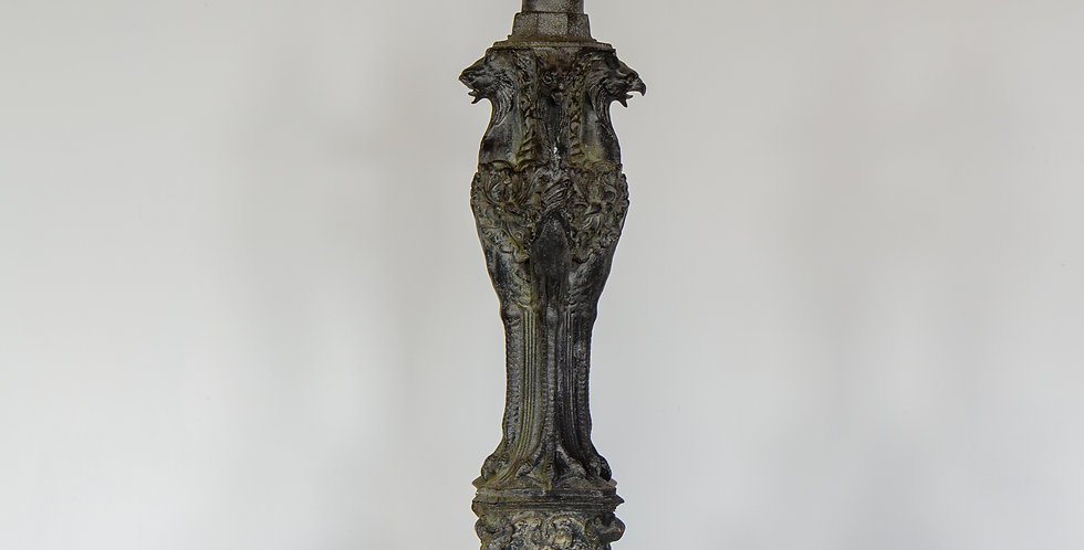 A Stunning 19th Century French Cast Iron Lamp