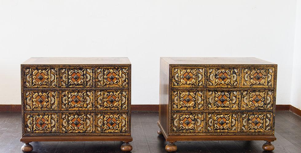 A Pair of John Widdicomb Designed Bedside Cabinets, 1950s