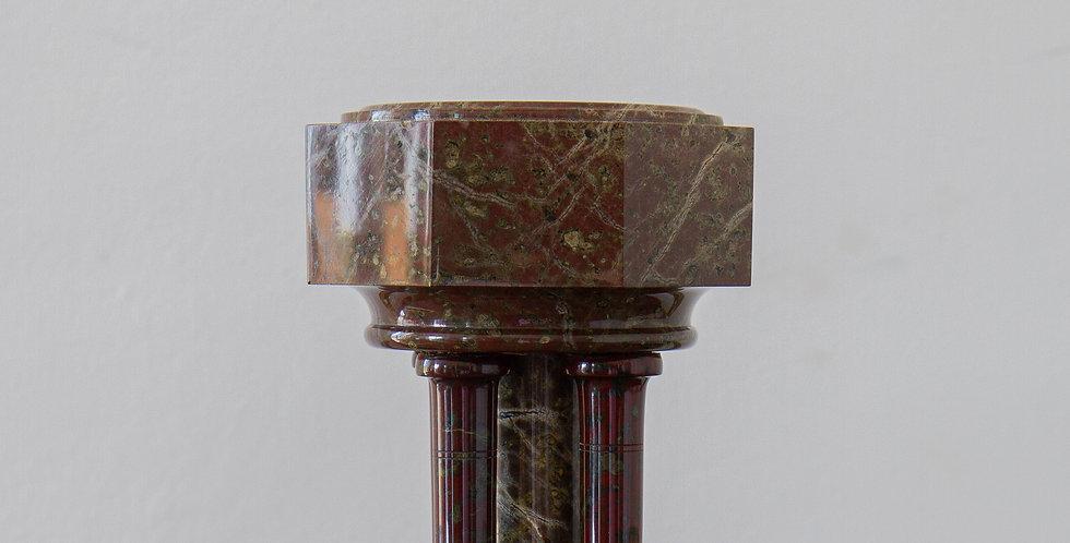A 19th Century Serpentine Marble Miniature Font, circa 1870