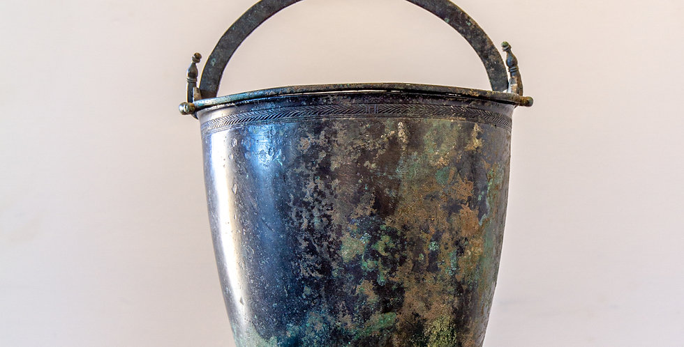 A 4th Century BC Classical Greek Bronze Bucket or Situla