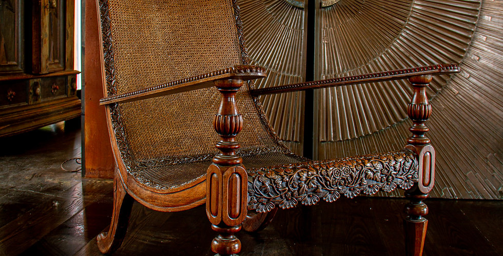 Early 19th Century Anglo Indian Padouk Wood Armchair circa 1830