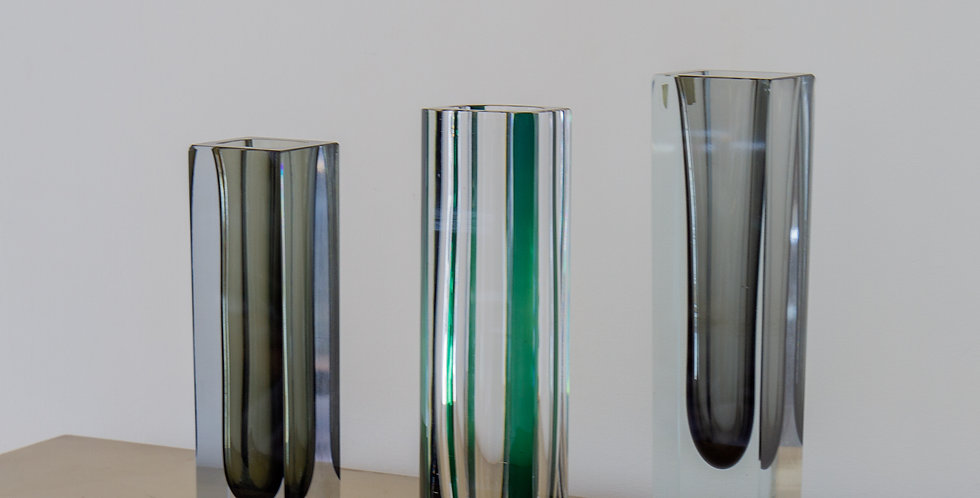 A Group of Three Large Murano Glass Vases