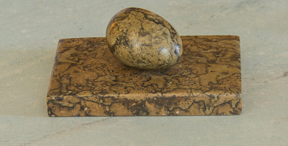 Marble Press with an Egg Handle circa 1850