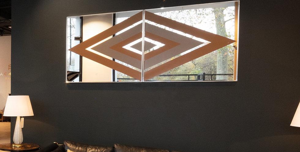An Art Deco Style Mirrored Wall Panel, circa 1970