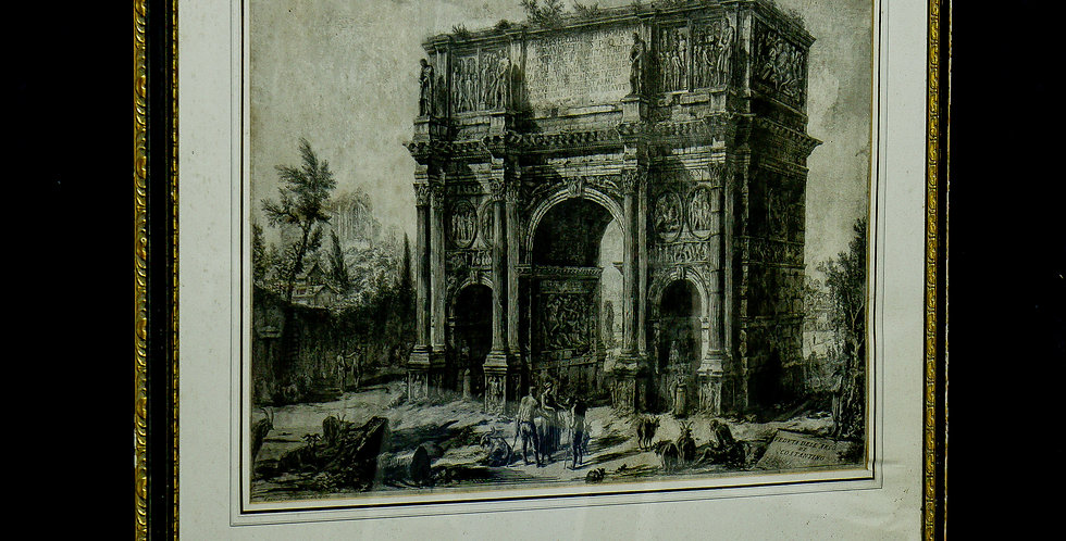 A 19th Century Single Framed Etching after Giovanni Battista Piranesi