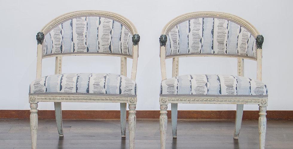 Pair of Swedish Empire Chairs circa 1800