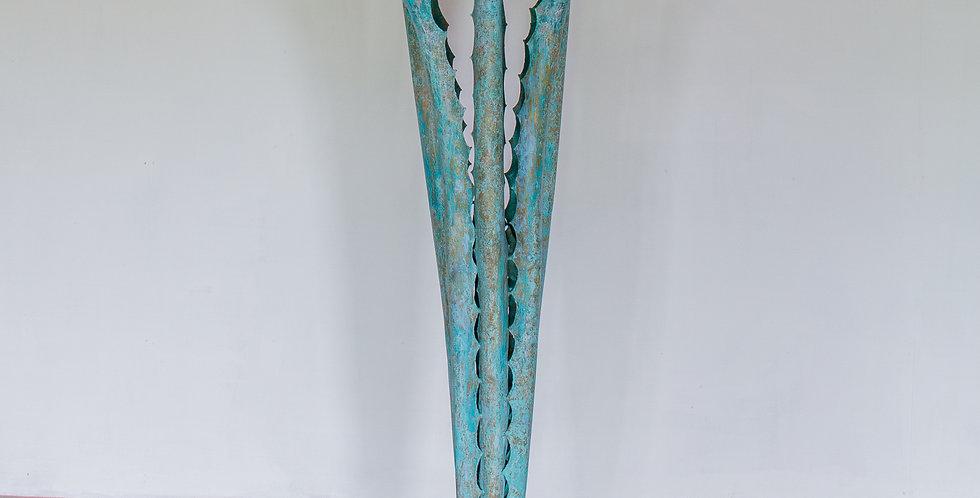A Standing Sculpture by Alain Chervet, 1974 titled 'Aloes'