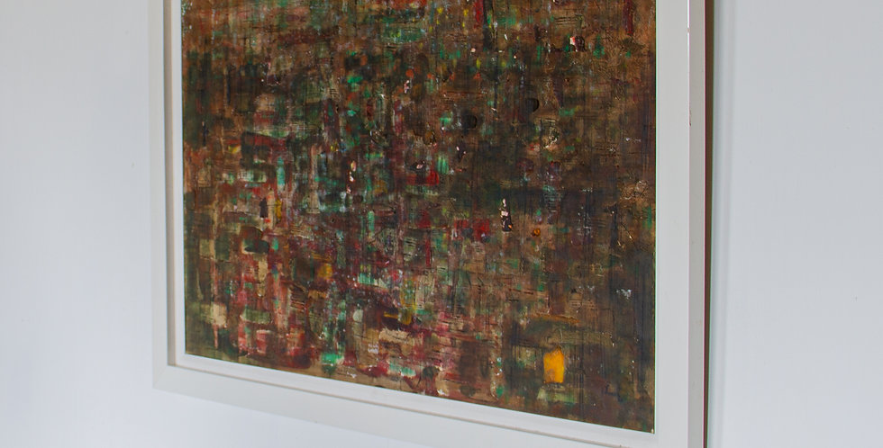An Abstract Oil Painting signed J. Lee, 1980