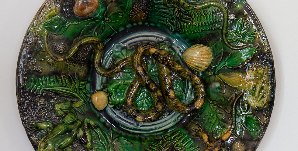 A 19th Century Palissy Ware Bowl by Alfred Renoleau, circa 1889-91