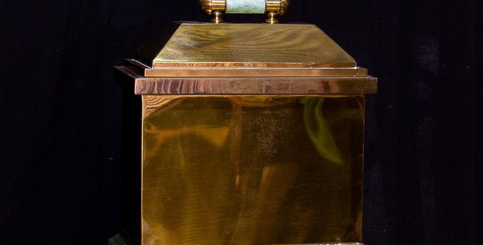 An Oversized Lorin Marsh designed Brass Box, 1970s