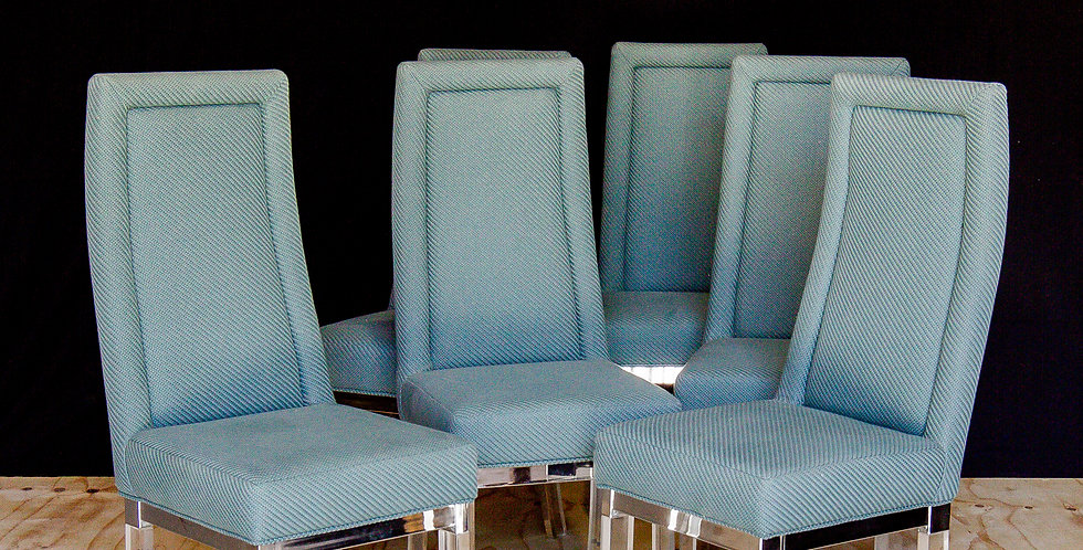 A Superb Set of Six Charles Hollis Jones Dining Chairs 1970s