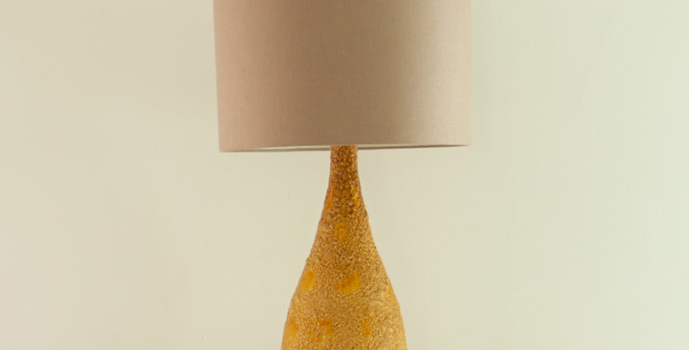 Tall Glazed Ceramic Lamp, 1960s