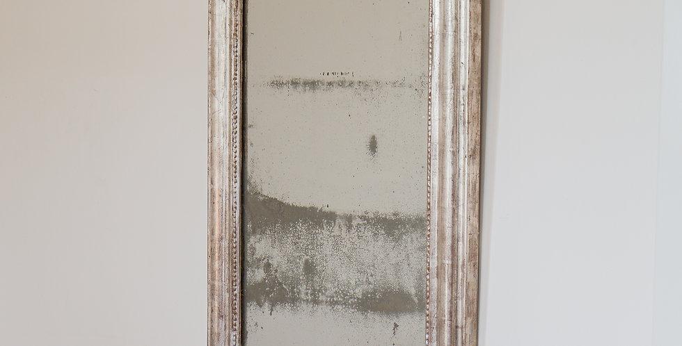 A Mid 19th Century Silver Leaf Framed Mirror