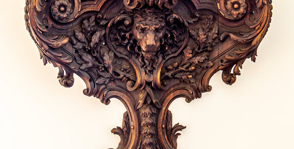 Stunning Early 19th Century English Carved Oak Wood Fragment
