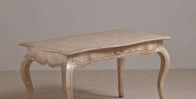 Tessellated Stone Desk Designed by Maitland Smith, 1980s