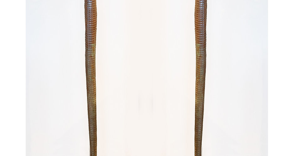 Pair of Bronze Snake Floor Lamps, circa 1970 after Edgar Brandt