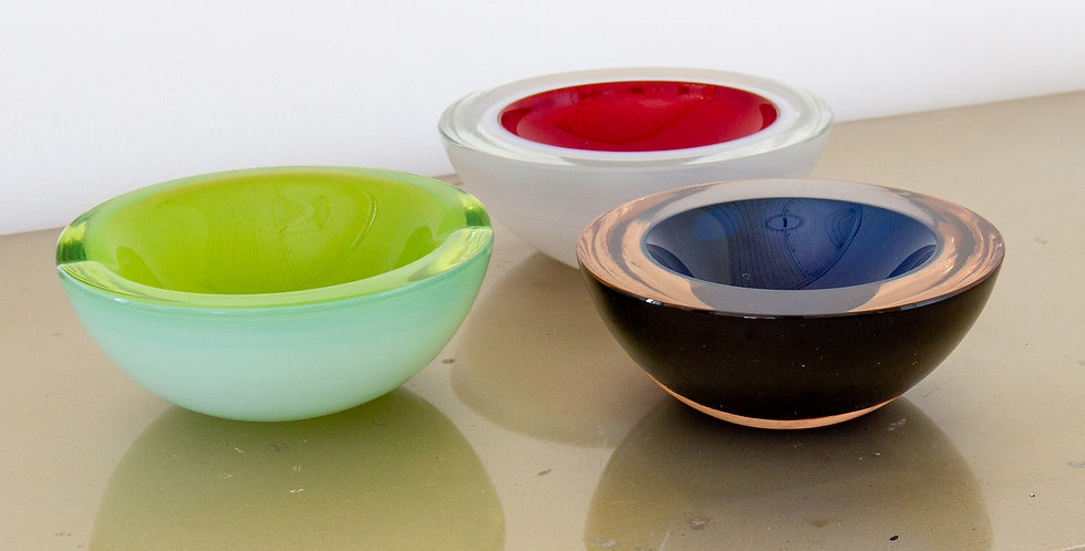 A Group of Three Murano Glass Bowls, 1960s