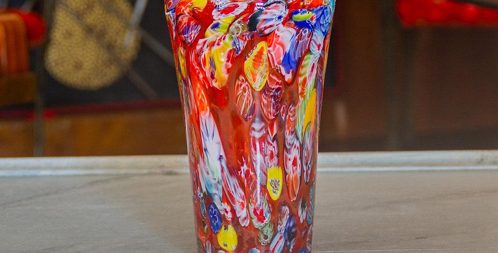 Multi-Coloured Millefiori Glass Vase, 1960s