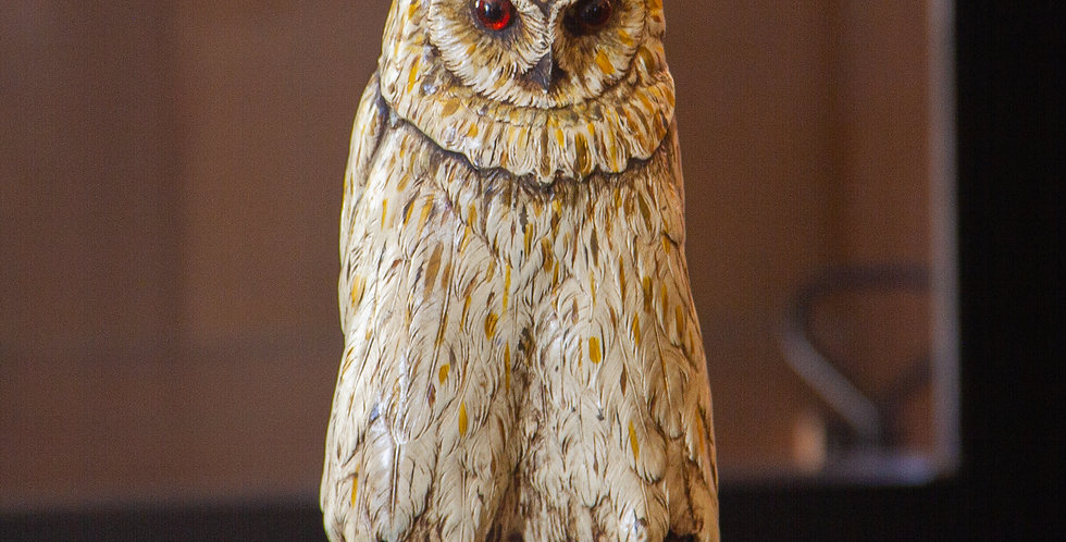 Cold Painted Bronze Sculpture of an Owl, Stamped 'BERGM' Circa 1890