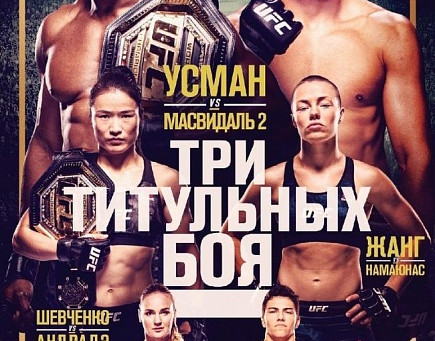 Главные бои турнира UFC 261