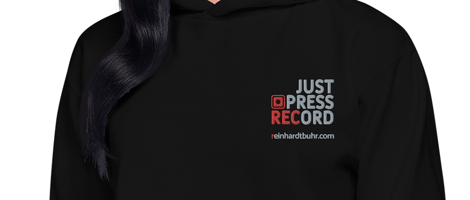 Just Press Record EMBROIDERED Hoodie (Unisex)