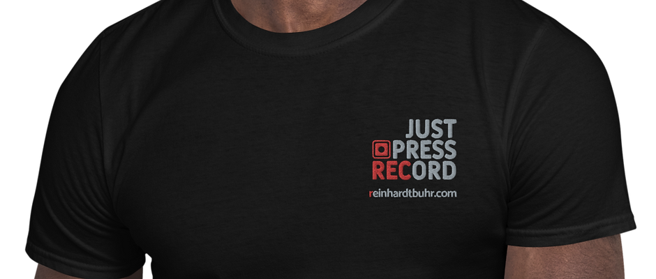 Just Press Record EMBROIDERED T-shirt (Unisex)