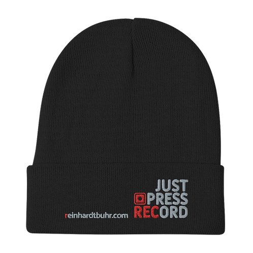 Just Press Record EMBROIDERED Beanie